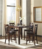 Ashley D384 Bennox 5 pc Counter Height Dining Set