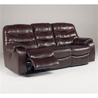 Ashley 428 Leather DBL REC Sofa