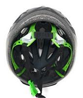 Bicycle Helmet  Black with green and black