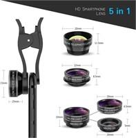 5 in 1 HD Camera Lens Kit with Giftbox, Fisheye