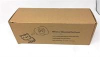 Grey Fuzzy Cat-Window-Perch, Space Saving and