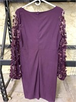 New Women's 2X Purple Dress With Mesh Flowing