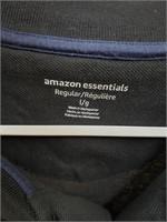 Amazon essentials black polo style short sleeve