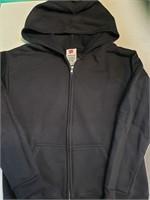 Hanes youth zip up hoodie jacket. Black size