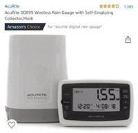 AcuRite 00899 Wireless Rain Gauge with