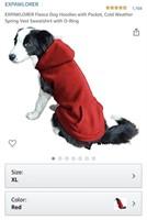 New XL EXPAWLORER Fleece Dog Hoodies with Pocket,