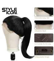 """New Style Icon Easy-360 Lace Wigs 28"""" Free Part"""