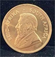 1983 One Ounce Gold South African Kruggerand Coin