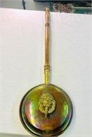 Antique Copper Bed warmer with lions head