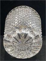 Cut Glass Silver Rim Vase