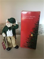Top O' The Mornin' Santa Figure with Box