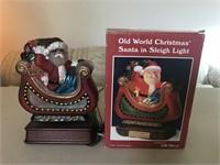 Santa in Sleigh Light  (Works)
