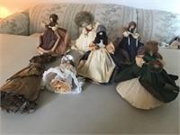 7 Corn Husk Dolls
