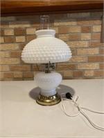 White Hob nail Lamp