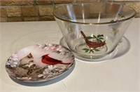 Birds Bowl and plate