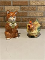 Cat & Rooster Pitchers