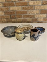 5 Pottery Pieces