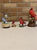 Music Boxes, Lenox , Wood cardinal