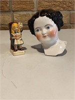 Ceramic Doll Head, Toby Cup