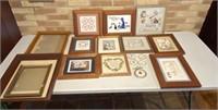 Picture, stitch art, empty frames