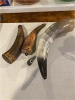 Bull horn Black Powder holders
