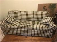 Clean Green Plaid Couch -Hide a bed
