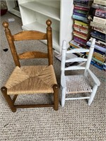 Vintage woven child's chairs