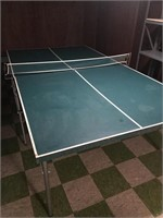 Ping Pong Table with Supplies
