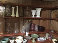 Contents of wall - Vases and Etc.