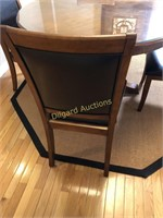 HARDWOOD DINING TABLE W/FOUR CHAIRS