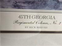 """45TH GEORGIA"" FRAMED PRINT"
