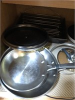 CUPBOARD CONTENTS; COOKING PANS, MORE