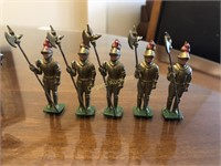 LOT OF METAL FIGURES; MADE IN ENGLAND