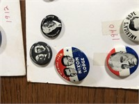 LARGE LOT OF PRESIDENTIAL PINS
