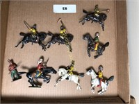 "LOT OF METAL HORSES ""BRITAINS"" MADE IN ENGLAND"