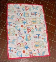 Raggedy Ann infant quilt.