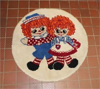 Raggedy Ann & Andy hooked rug