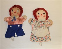 Raggedy Ann & Andy hand puppets