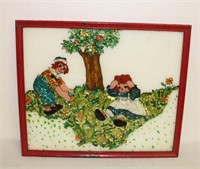 Raggedy Ann & Andy framed picture