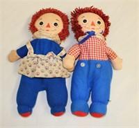 Raggedy Ann & Andy bean bag dolls