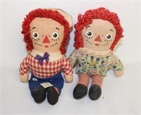 3 sets od small Raggedy Ann & Andy dolls
