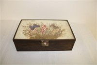 box lot boxes, leather purse, small bird cage