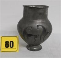 """6."""" Pewder vase - Castor Cooper collection"""