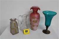 2 vases & 2 pitchers
