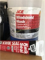 LOT OF SPRAYS AND MISC GARAGE ITEMS