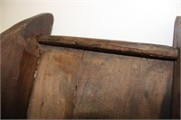 """Early small Primitive sled 20"""" long . Old red"""