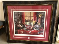 LARGE FRAMED OHIO STATE PRINT