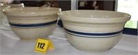 2 Freindship 6qt bowls (1 chipped)