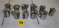 11 stainless steel creamers