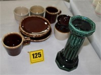 group of misc pottery - 9 pcs.